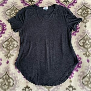 Old Navy gray luxe top with floral detail